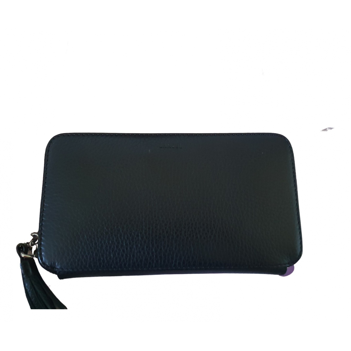Lancel \N Black Leather wallet for Women \N