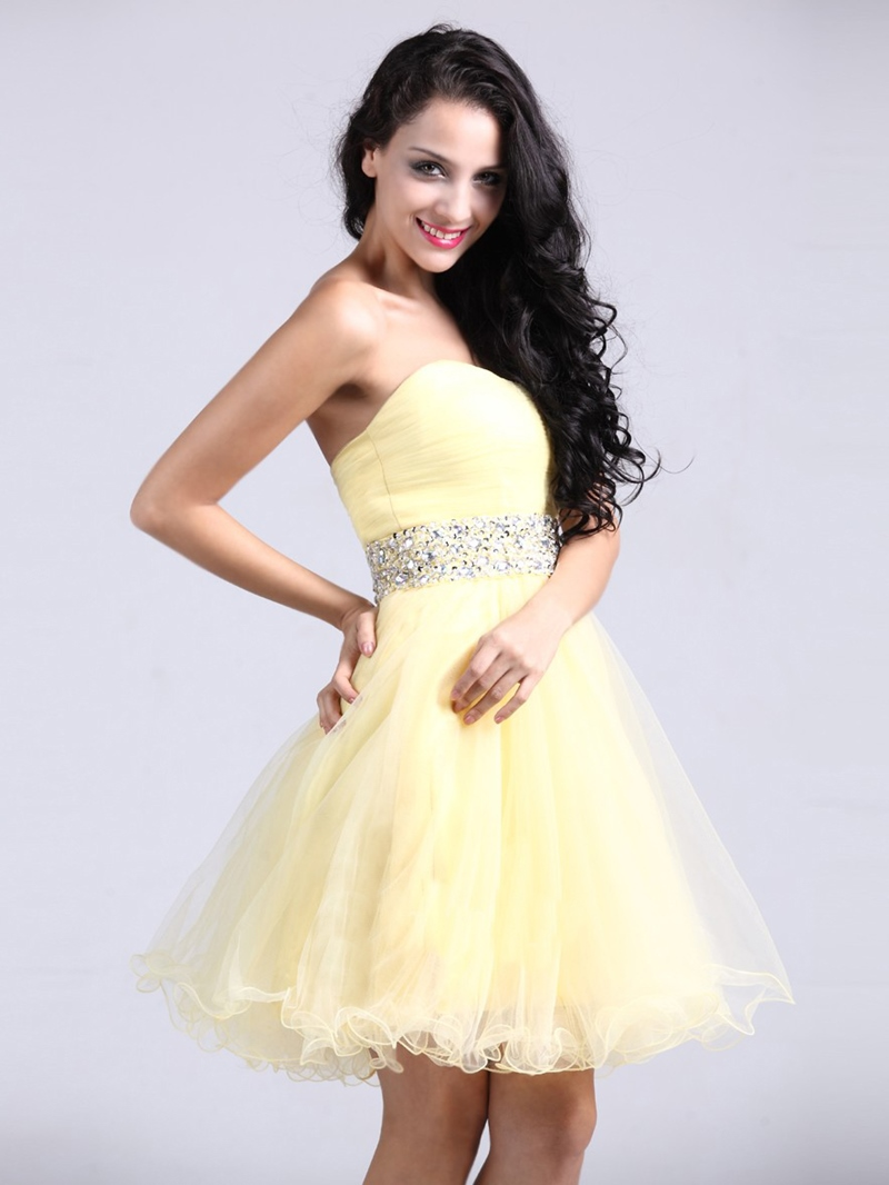 Epidemic A-Line Sweetheart Ruched Homecoming/Sweet 16 Dress