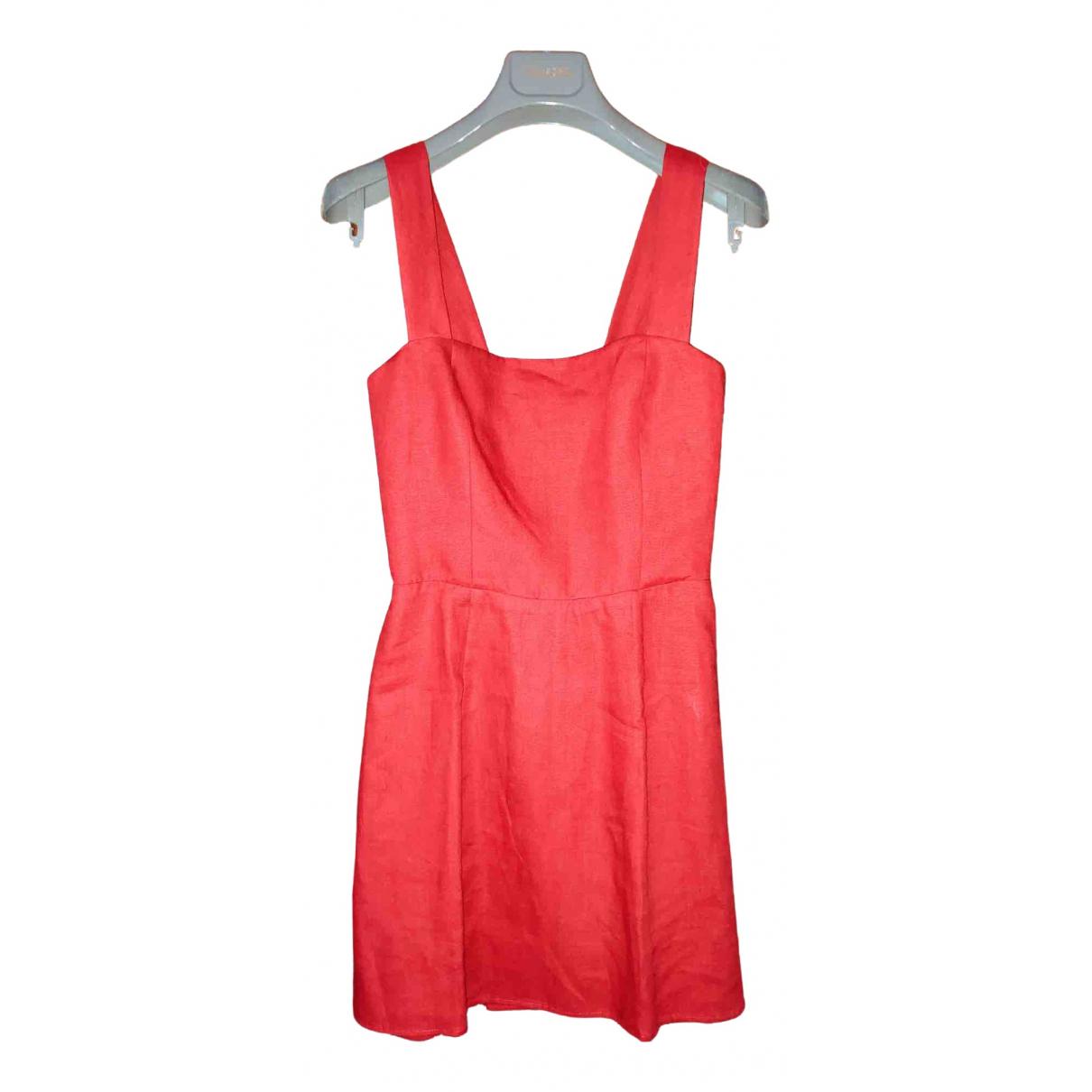 Reformation \N Kleid in  Rot Leinen