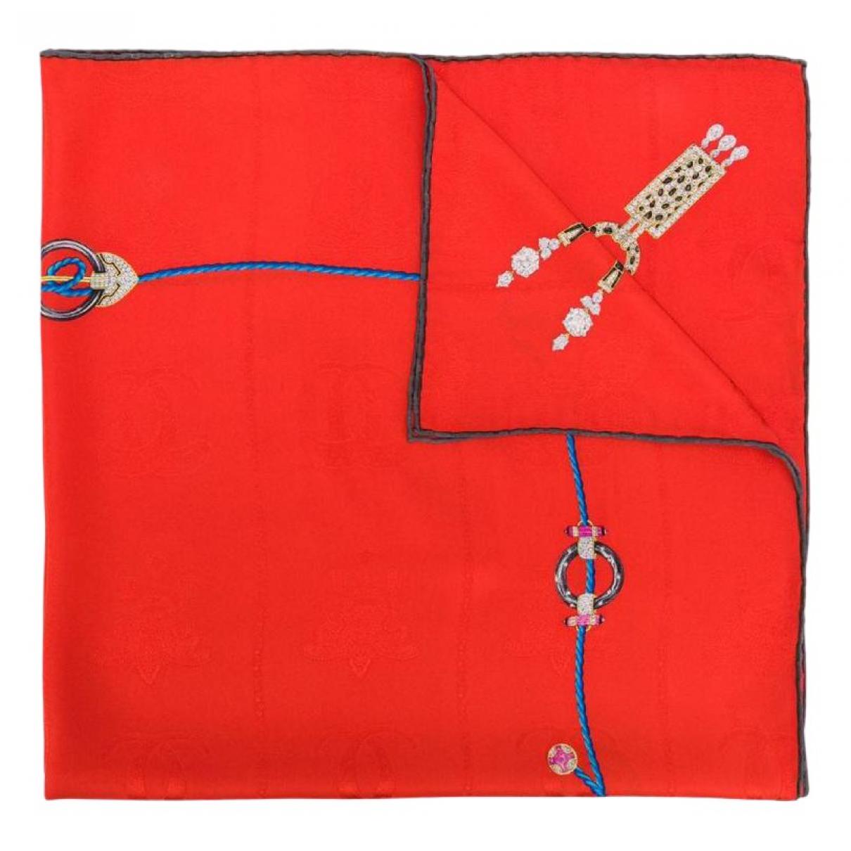 Cartier - Carre   pour femme en soie - rouge