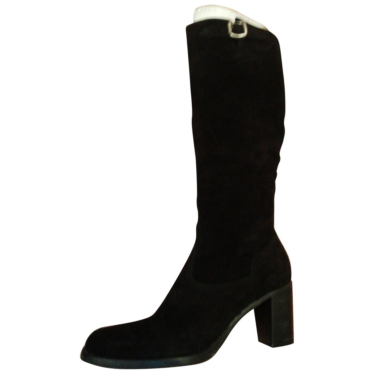 Free Lance - Bottes   pour femme en cuir - noir