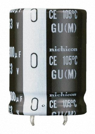 Nichicon 220μF Electrolytic Capacitor 400V dc, Through Hole - LGU2G221MELZ