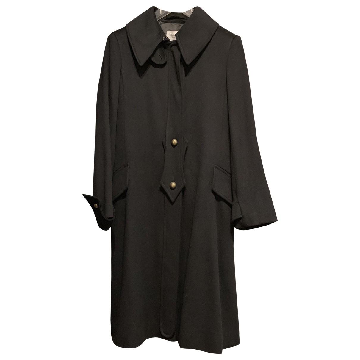 Yves Saint Laurent \N Blue Wool coat for Women 40 FR