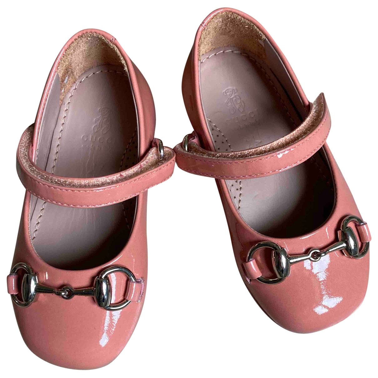 Gucci \N Ballerinas in  Rosa Lackleder
