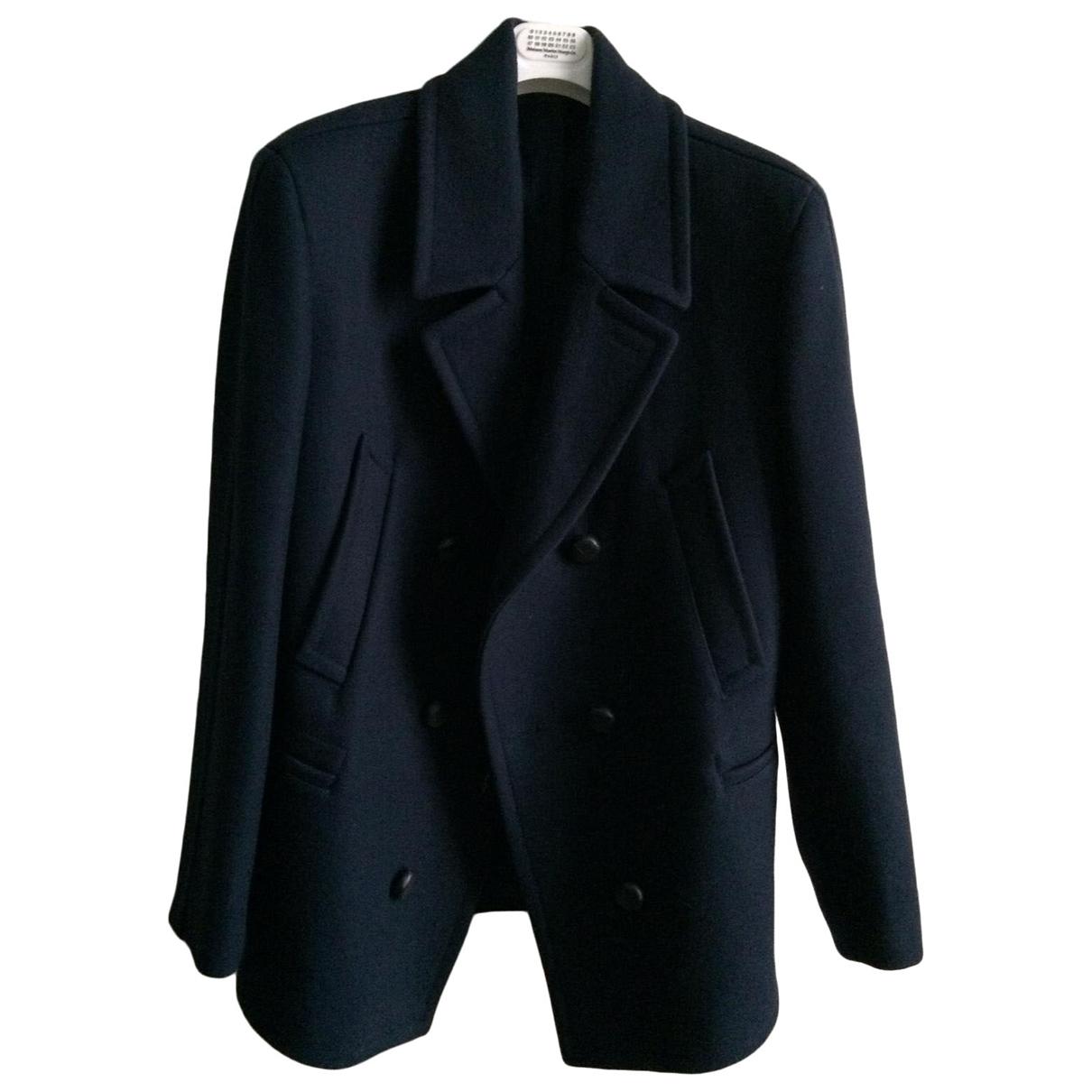 Maison Martin Margiela \N Navy Wool coat  for Men 48 FR