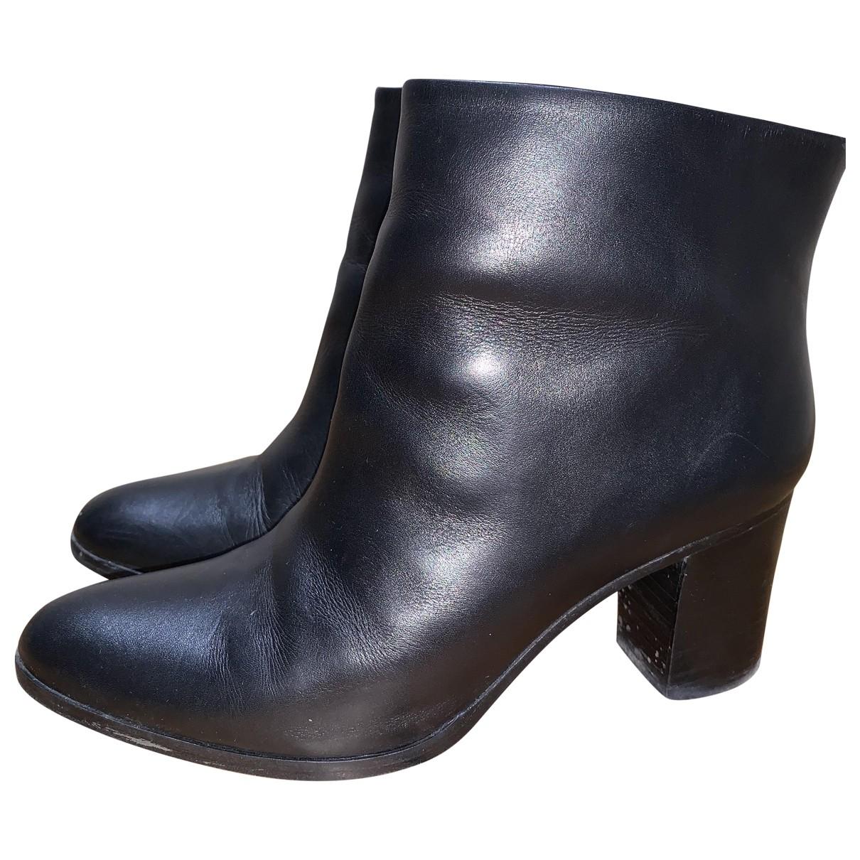Atelier Mercadal - Boots   pour femme en cuir - noir