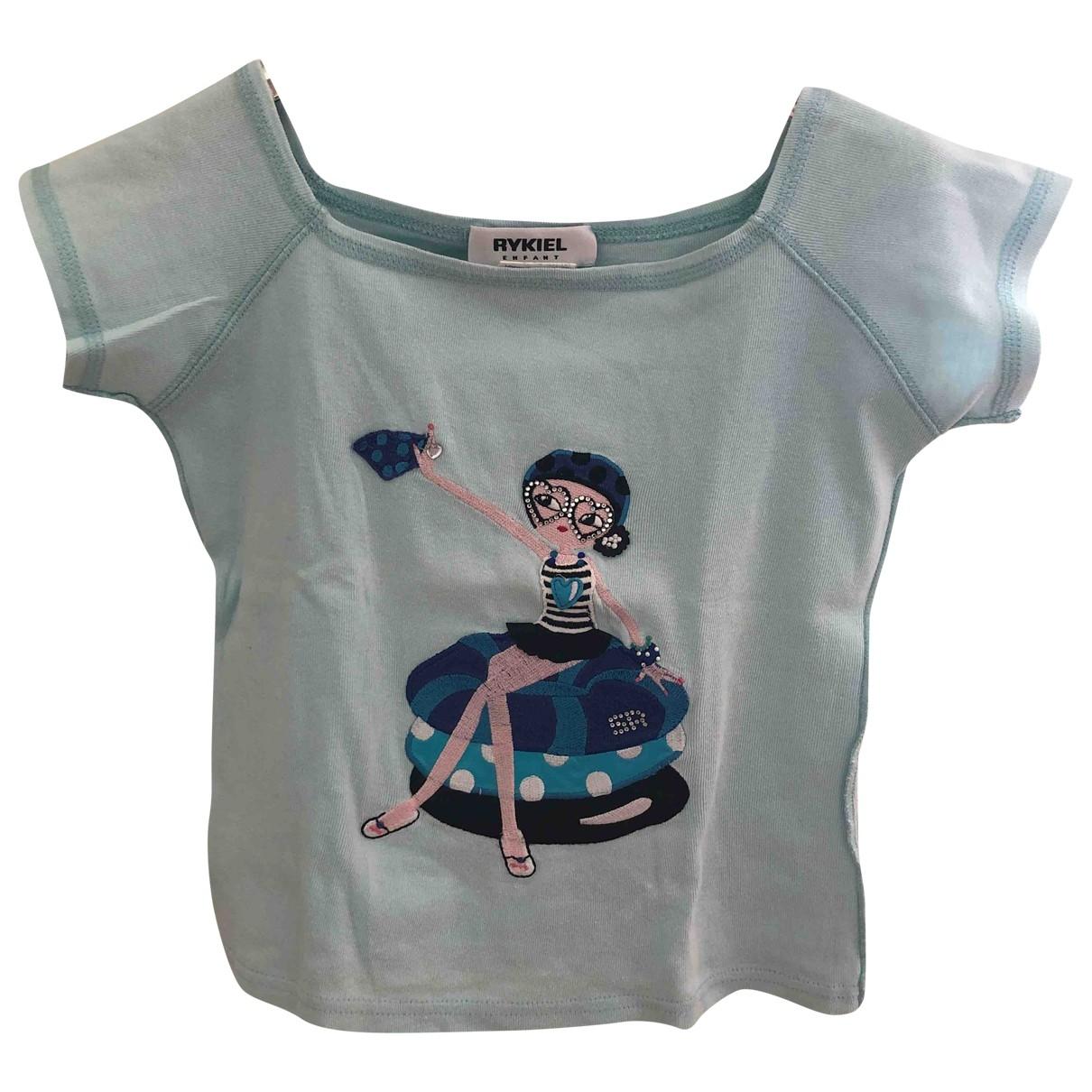 Sonia Rykiel - Top   pour enfant en coton - bleu