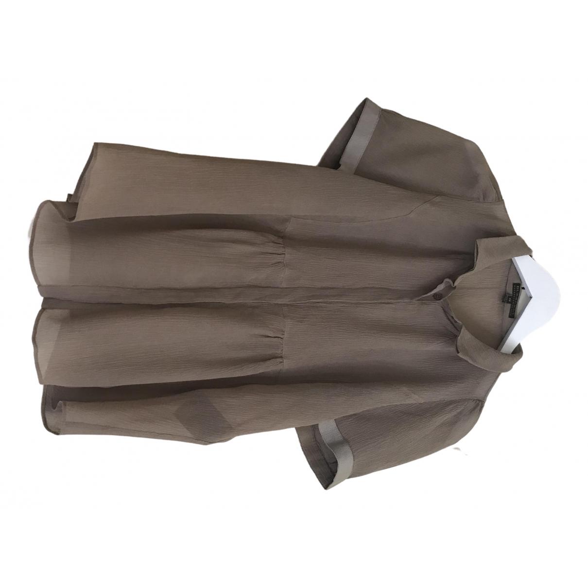 Burberry - Top   pour femme en soie - marron