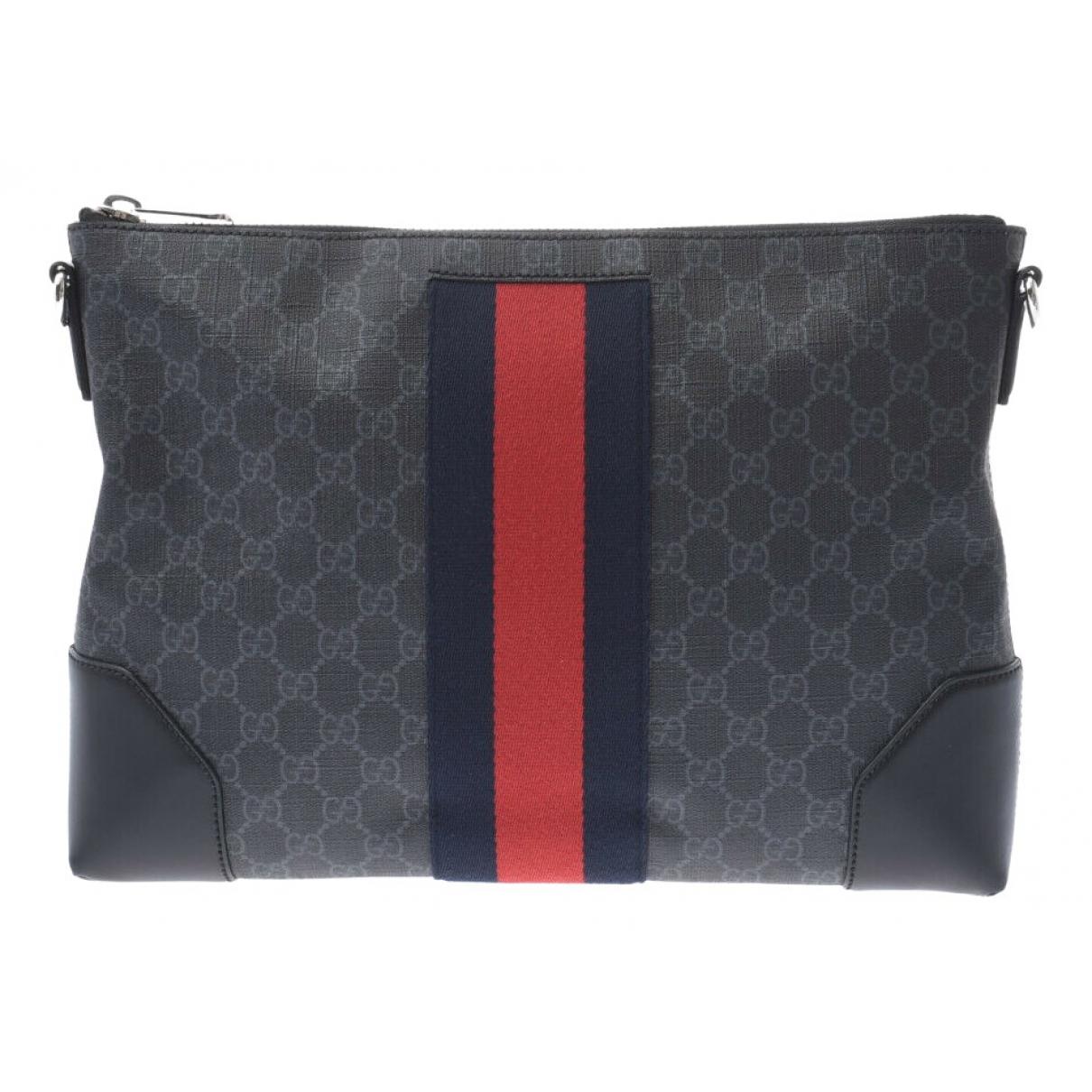 Gucci \N Reisetasche in  Schwarz Leinen