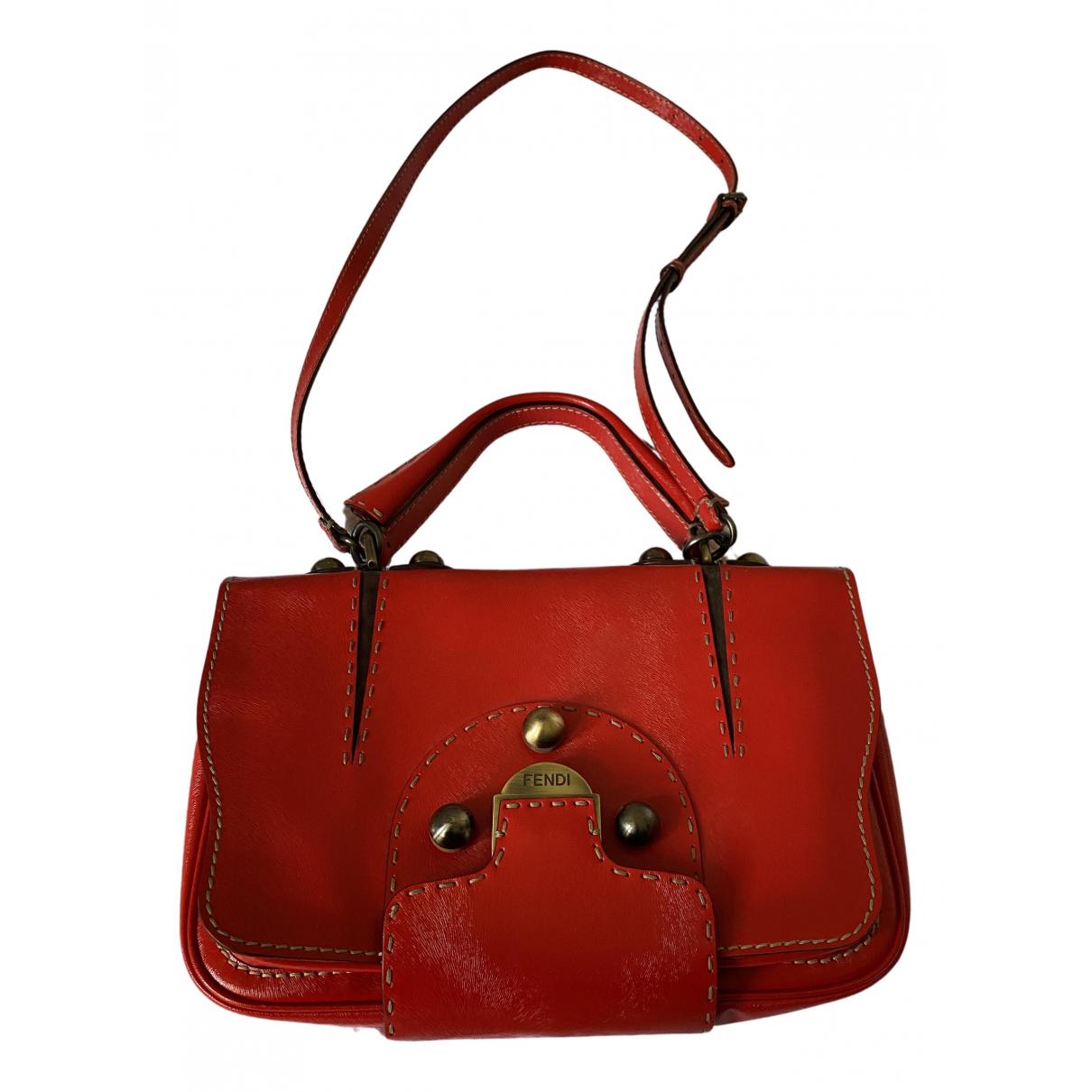 Fendi N Red Leather handbag for Women N