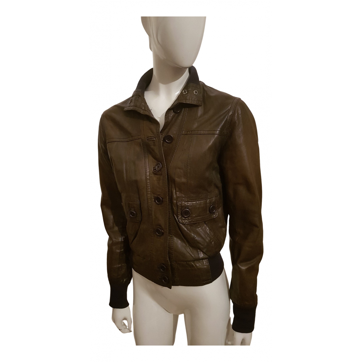 Impérial \N Green Leather jacket for Women S International