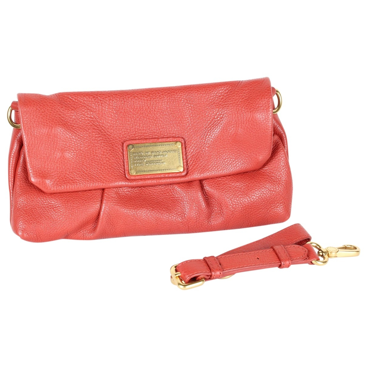Marc By Marc Jacobs \N Clutch in  Rot Leder