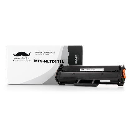 Compatible Samsung MLT-D111L Black Toner Cartridge - Moustache - 1/Pack