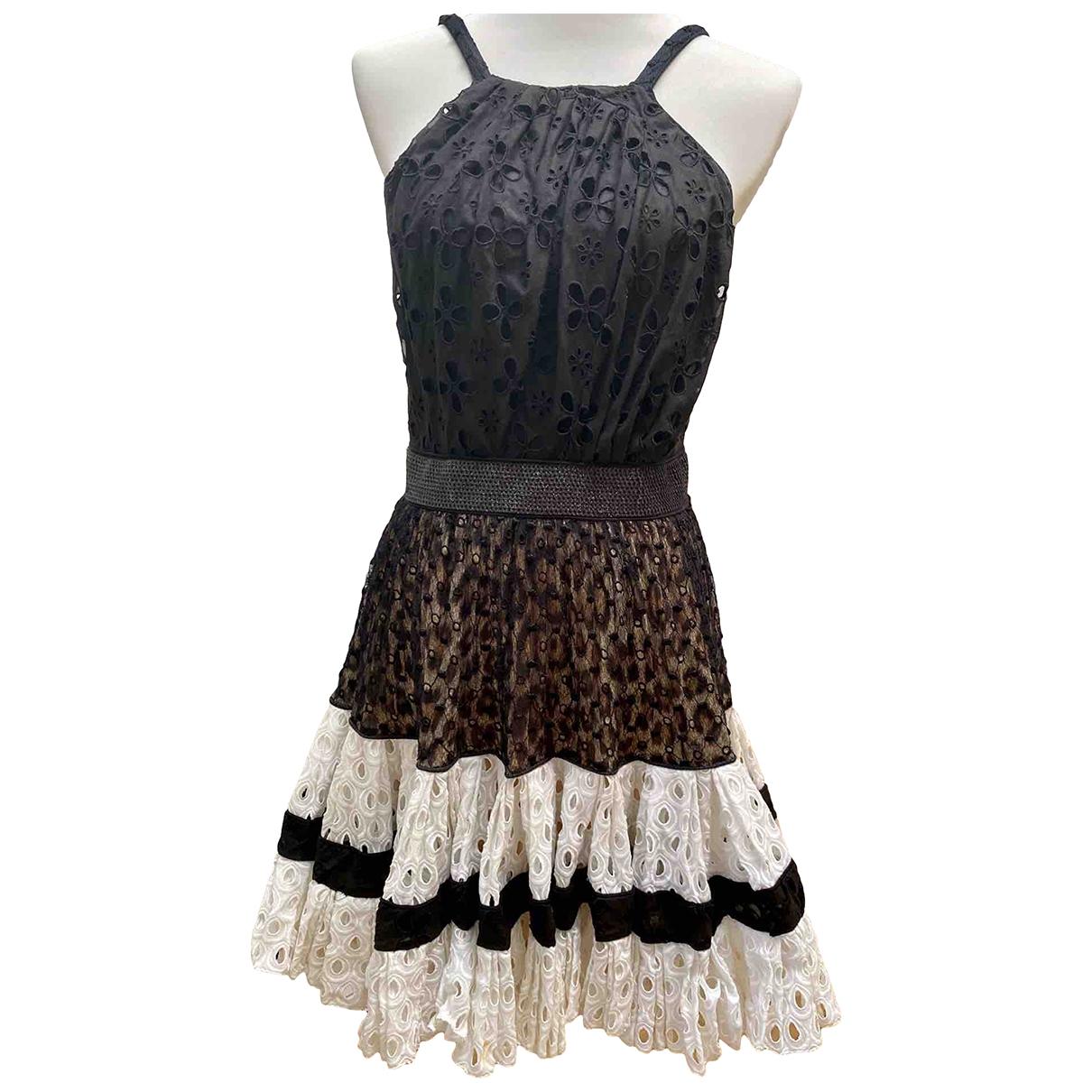 Roberto Cavalli \N Black Cotton dress for Women 44 IT