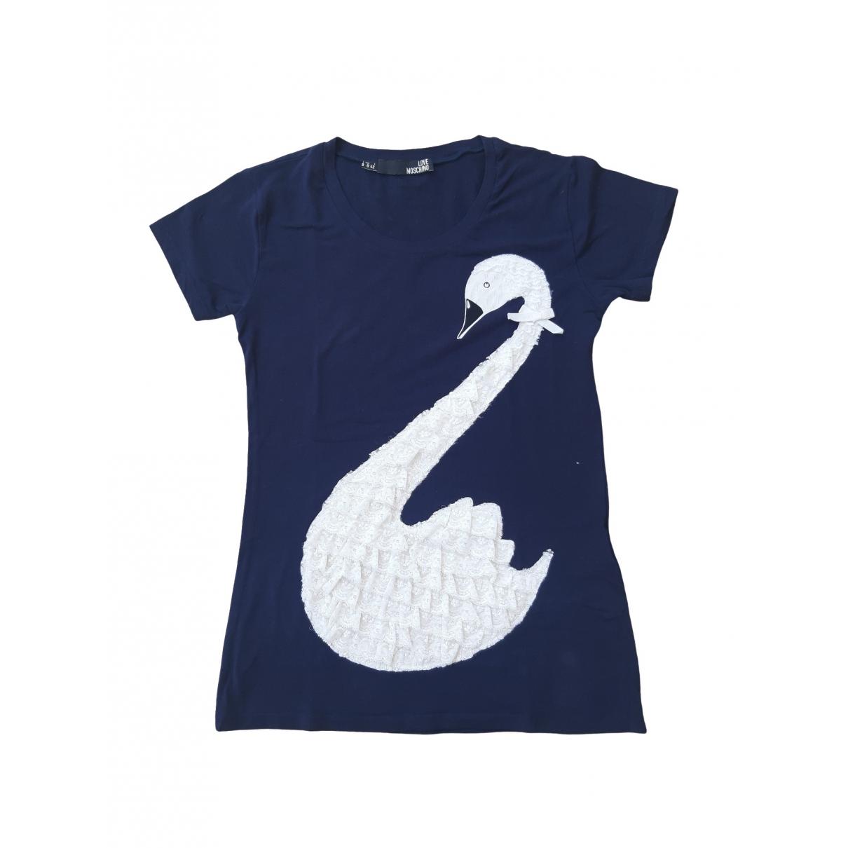 Moschino Love - Tee shirts   pour homme en coton - bleu