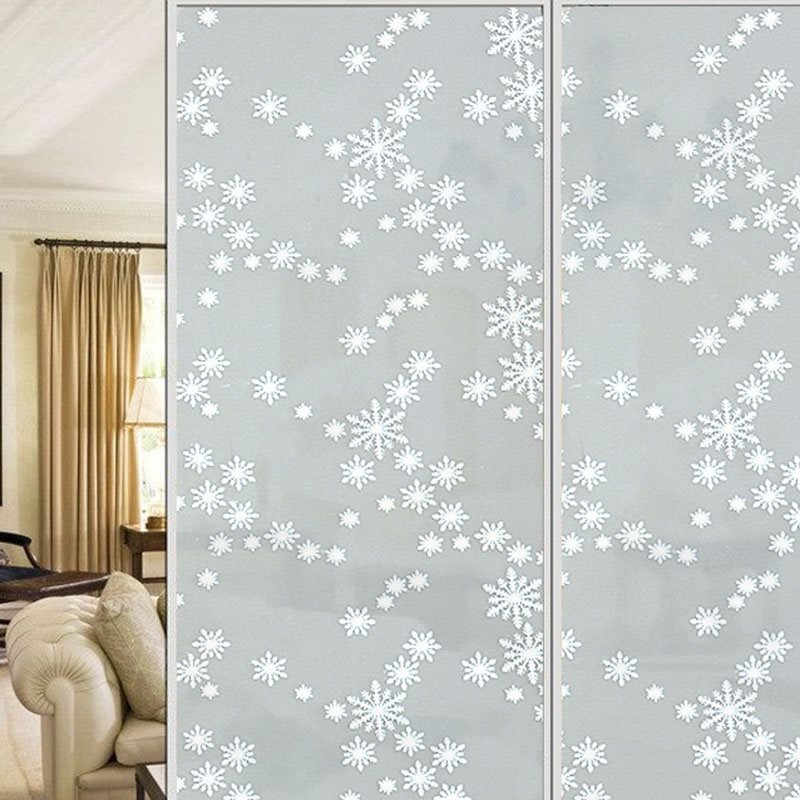 Christmas Snow Privacy No Glue Decorative Window Films for Glass Window