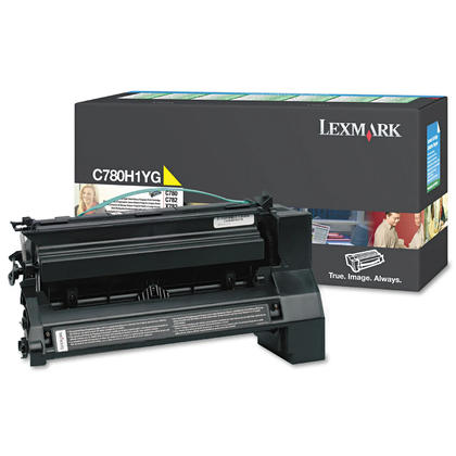 Lexmark C780H1YG Original Yellow Return Program Toner Cartridge High Yield