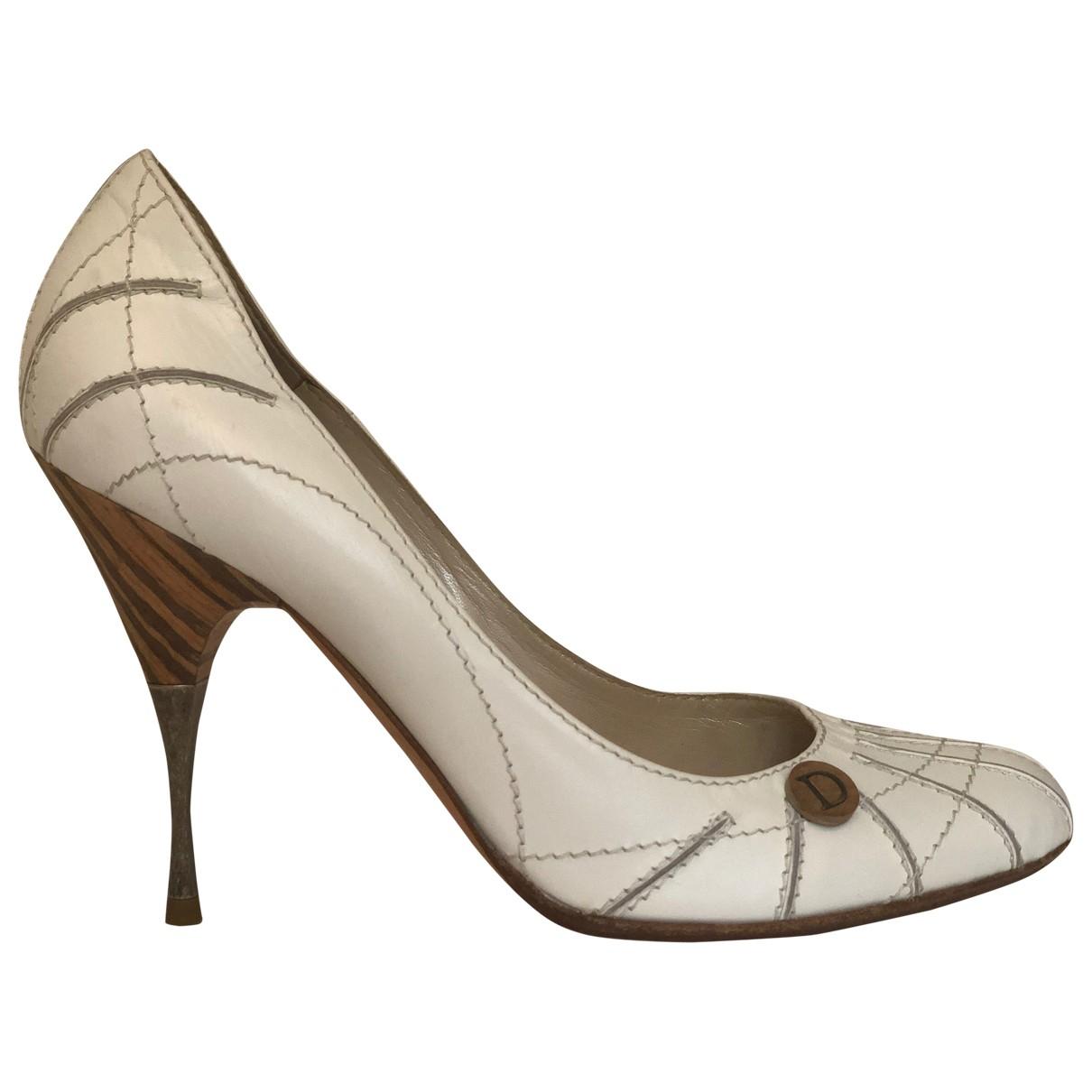 Dior - Escarpins   pour femme en cuir - blanc