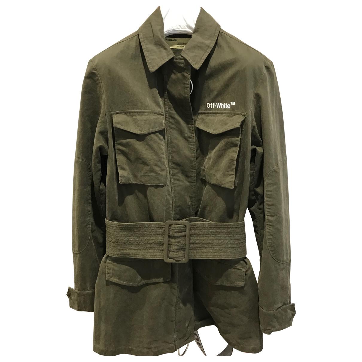 Off-white \N Khaki Cotton jacket for Women 40 IT
