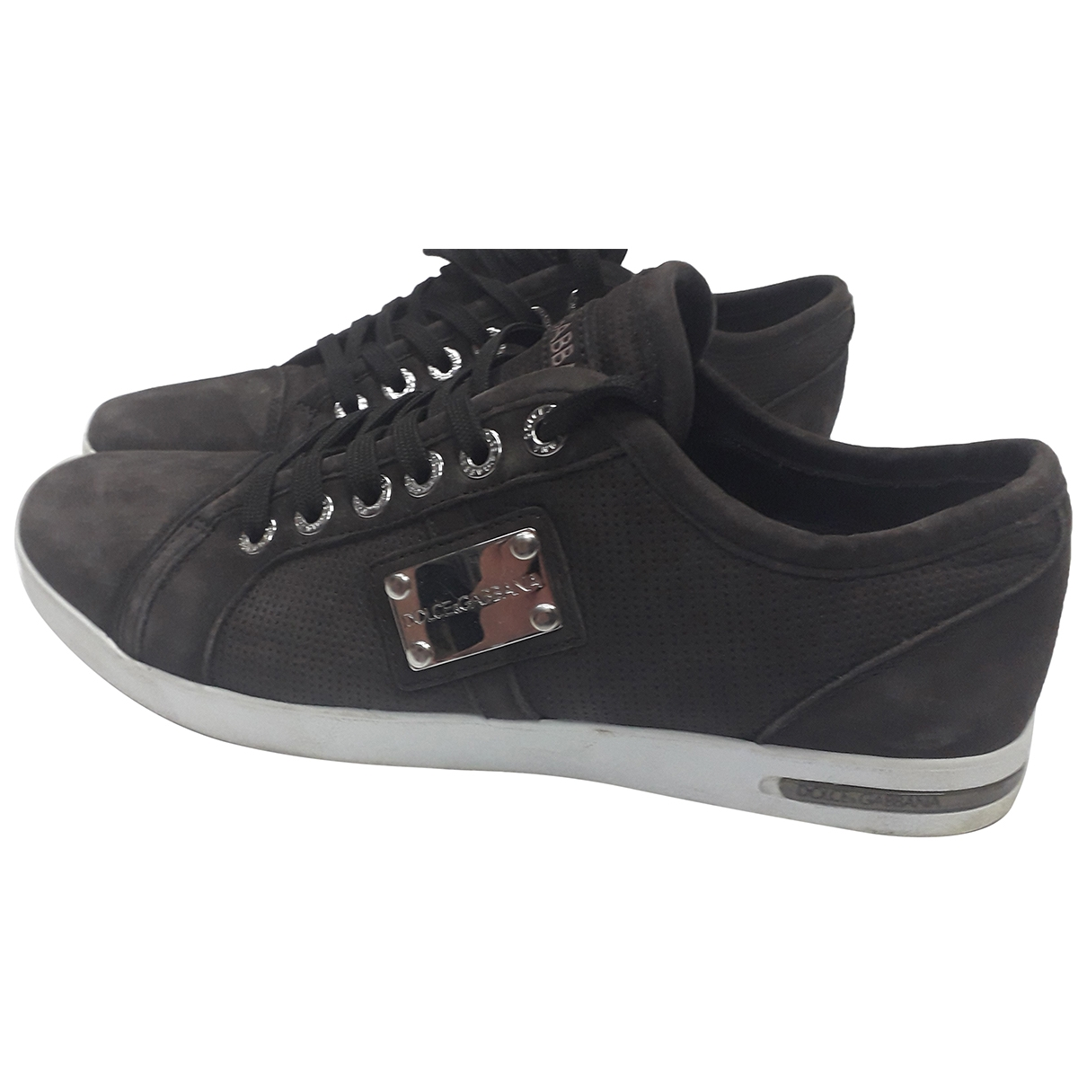 Dolce & Gabbana \N Anthracite Suede Trainers for Men 7.5 UK