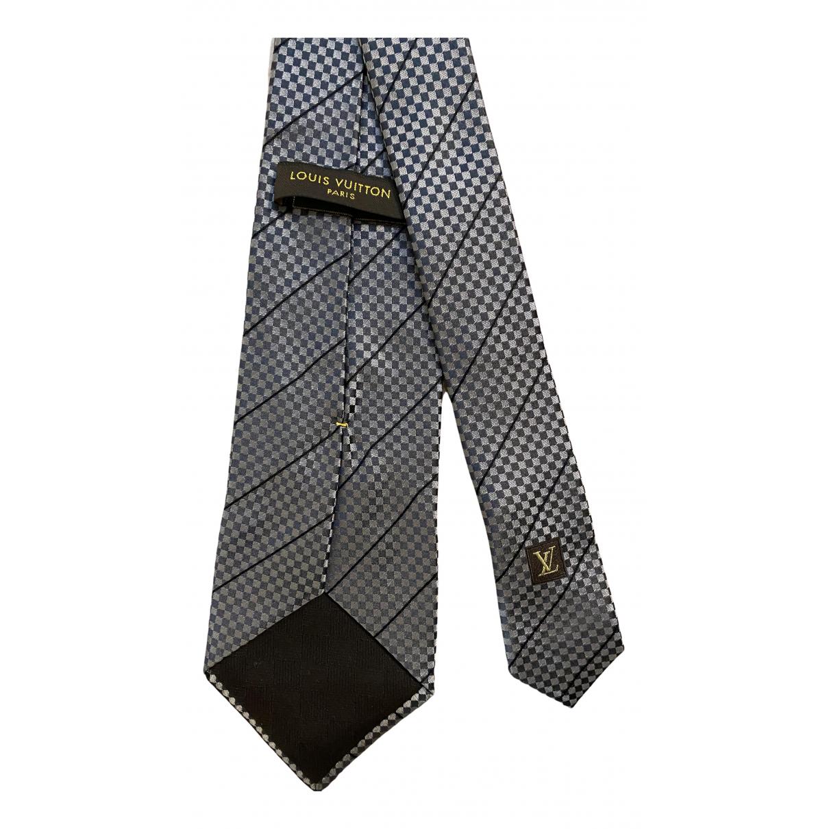 Louis Vuitton \N Krawatten in  Grau Seide