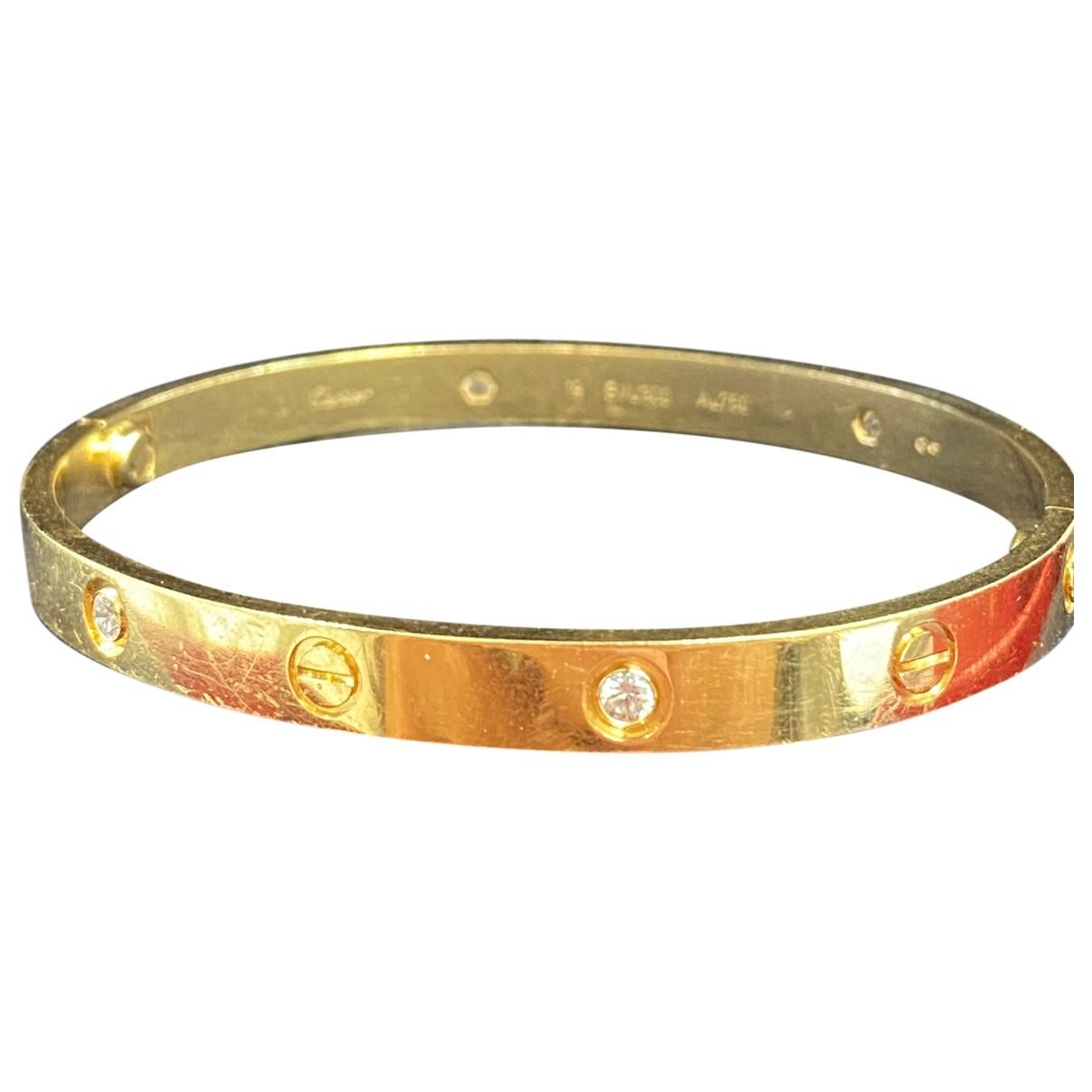 Cartier - Bracelet Love pour femme en or jaune