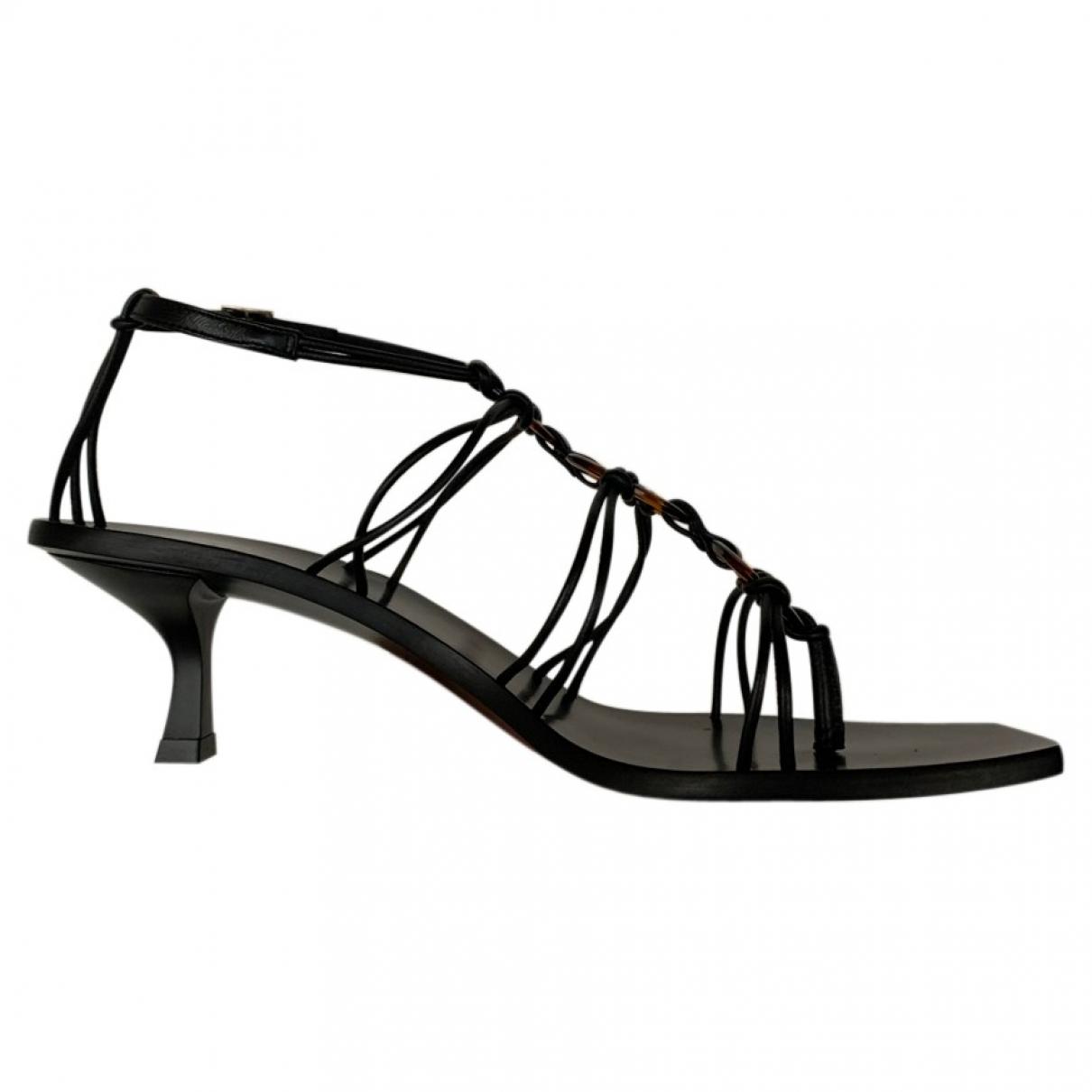 Cult Gaia - Sandales   pour femme en cuir - noir