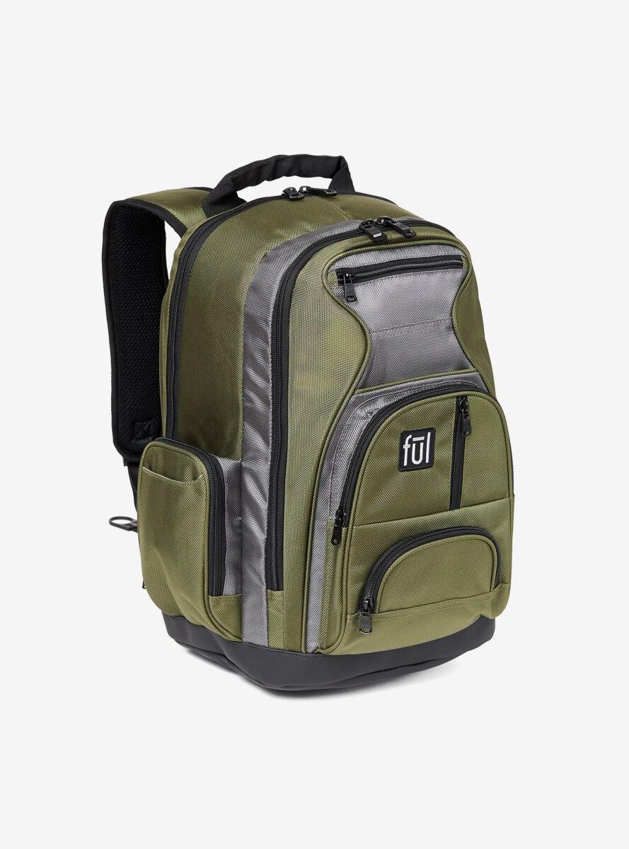 FUL Free Fallin' Padded Green Laptop Backpack