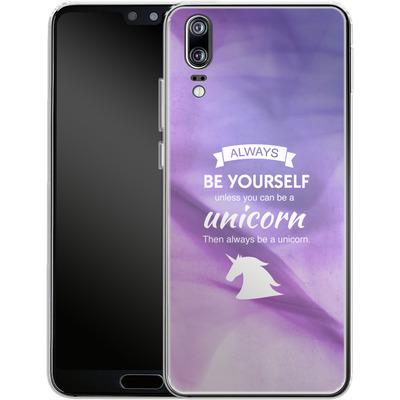 Huawei P20 Silikon Handyhuelle - Be A Unicorn von Statements