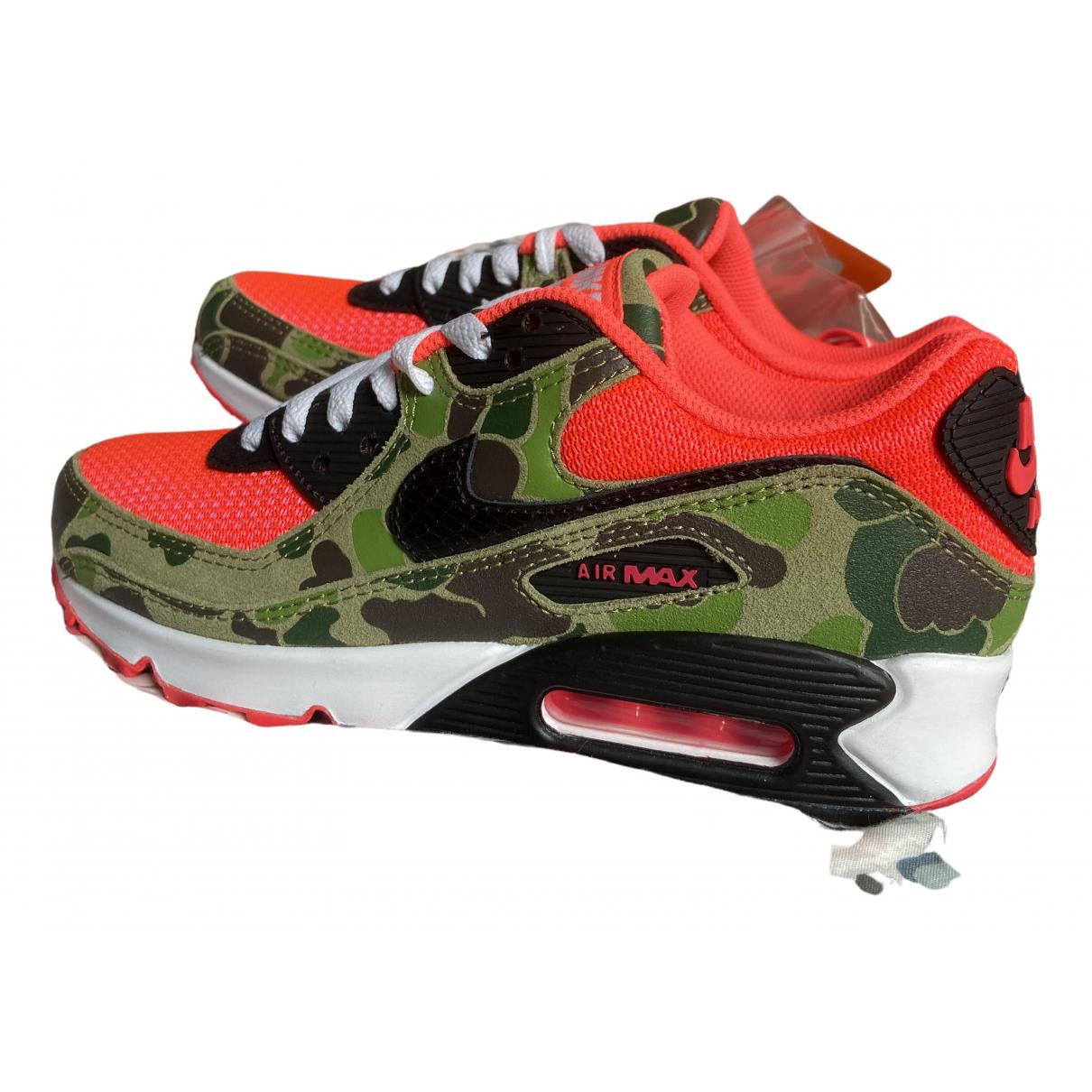 Nike Air Max 90 Sneakers in  Khaki Leinen