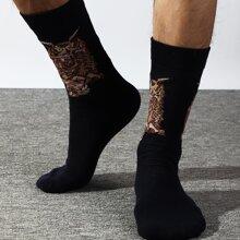 Calcetines de hombres con patron de animal