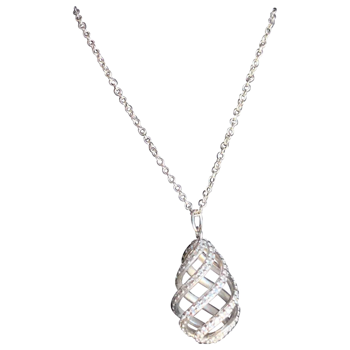 Tiffany & Co Paloma Picasso Kette in  Weiss Weissgold