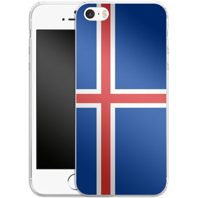 Apple iPhone SE Silikon Handyhuelle - Iceland Flag von caseable Designs
