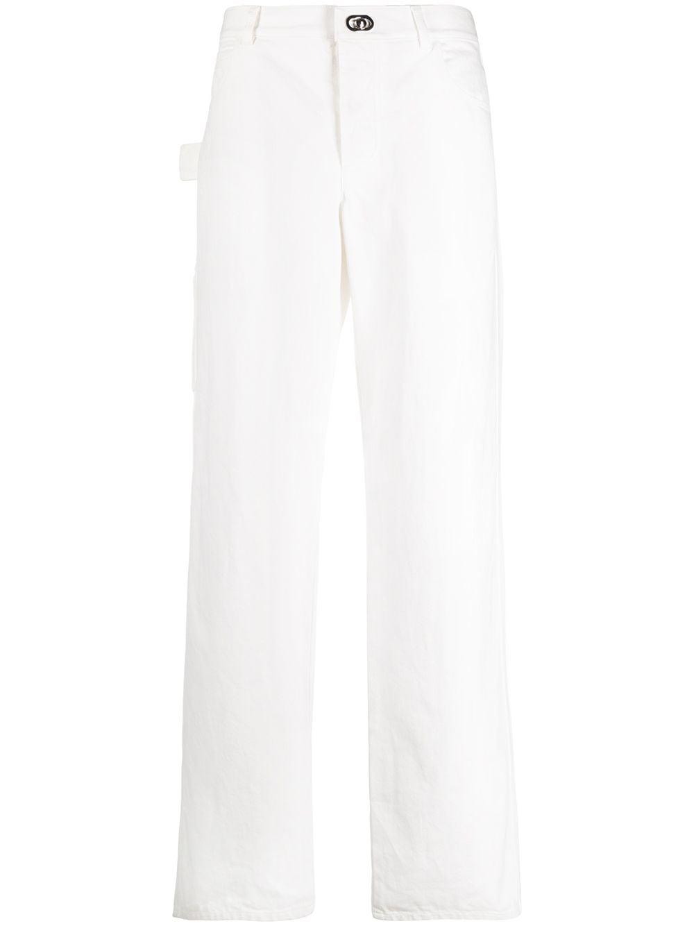 Straight-leg High-waisted Jeans