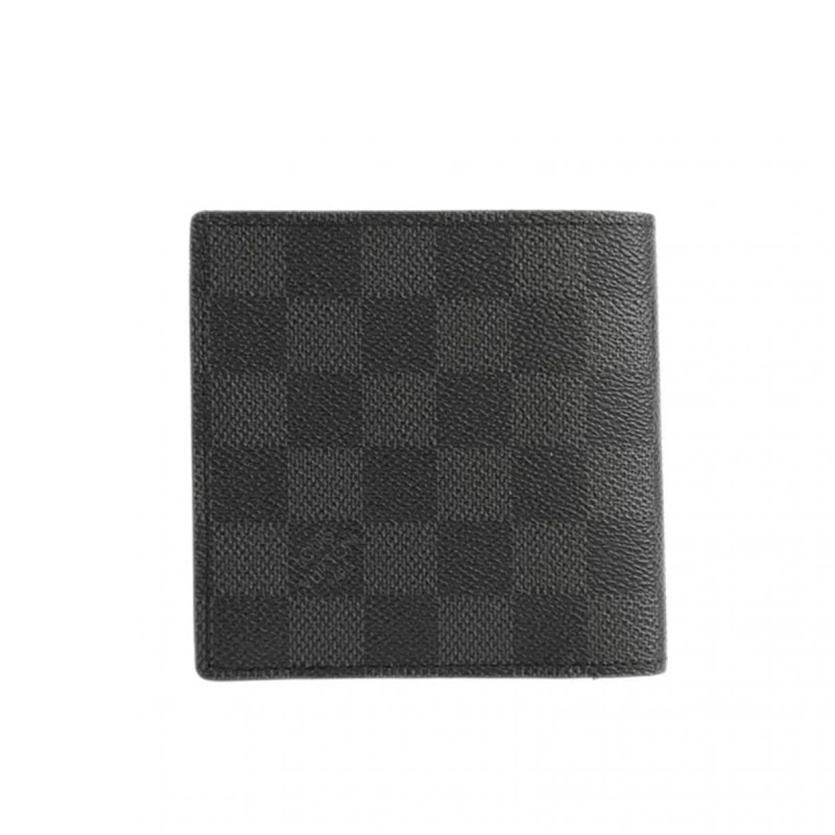 Louis Vuitton Marco Black Cloth Small bag, wallet & cases for Men \N