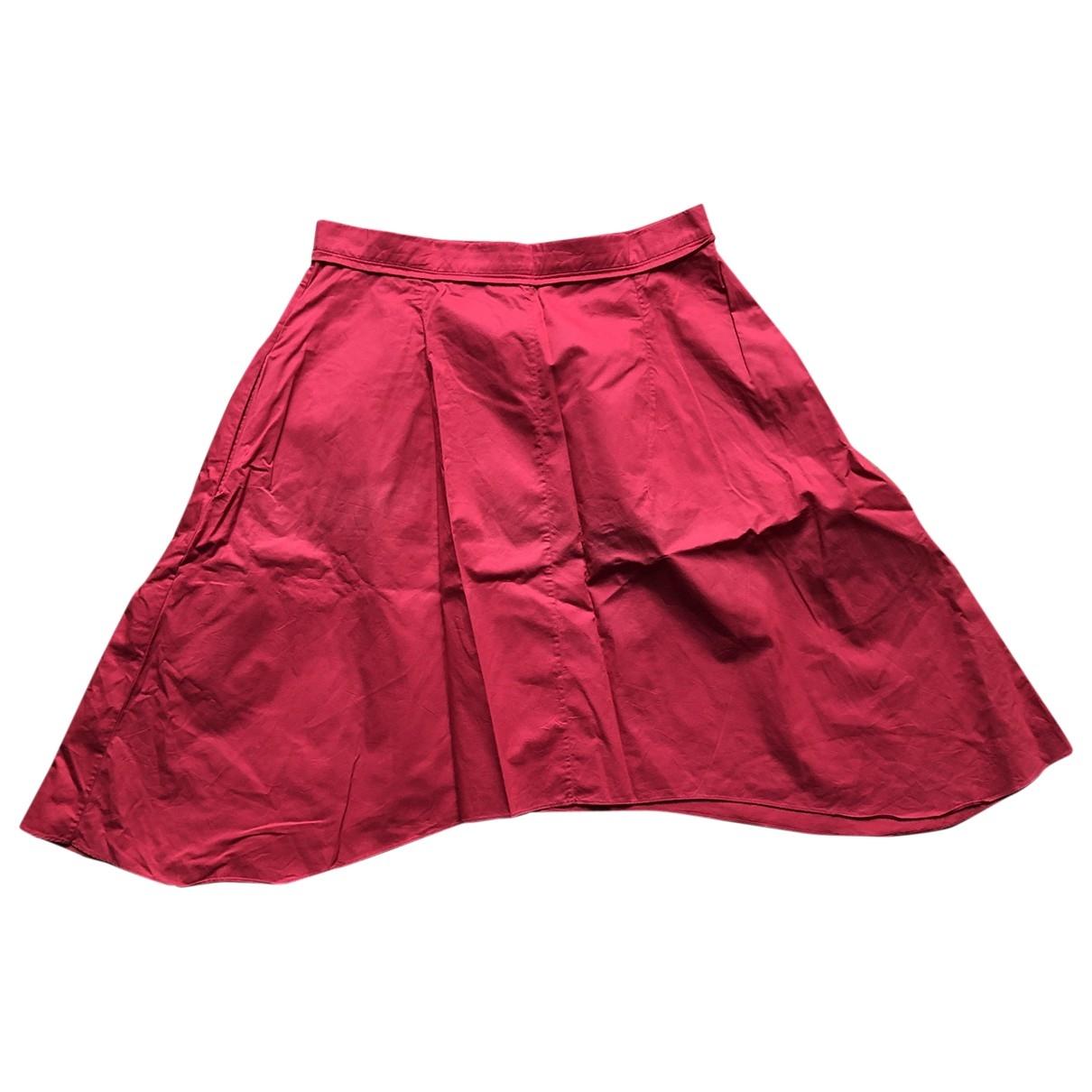 Carven - Jupe   pour femme en coton - rouge