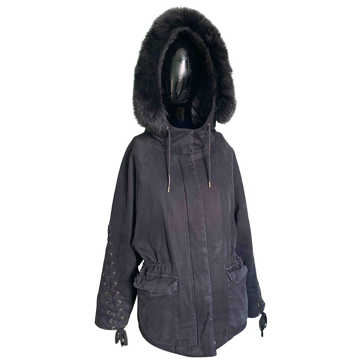 Maje - Manteau   pour femme en coton - noir