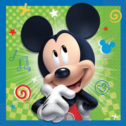 Mickey Mouse 16 Luncheon Napkins For Birthday Party