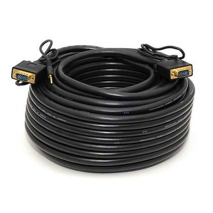 Câble de haute qualité super VGA HD15 M/M avec audio stéréo et triple blindage (4 longueurs) - 100pi