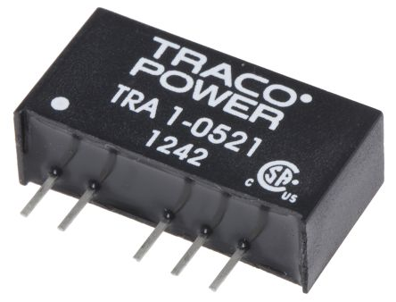 TRACOPOWER TRA 1 1W Isolated DC-DC Converter Through Hole, Voltage in 4.5 → 5.5 V dc, Voltage out ±5V dc