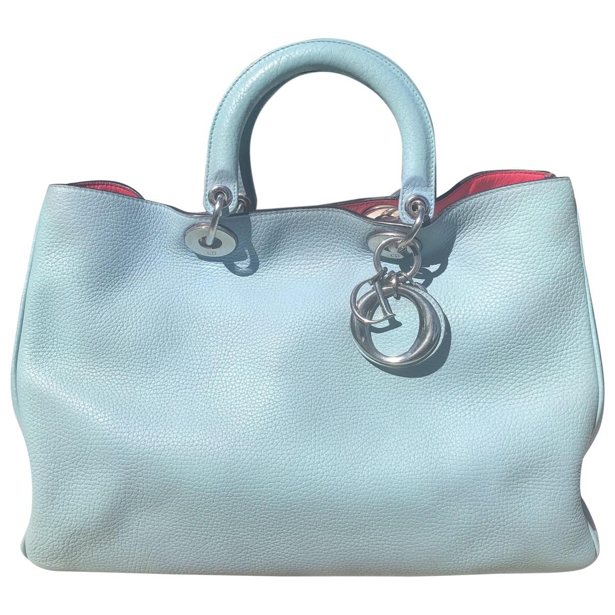 Dior - Sac a main Diorissimo pour femme en cuir - bleu