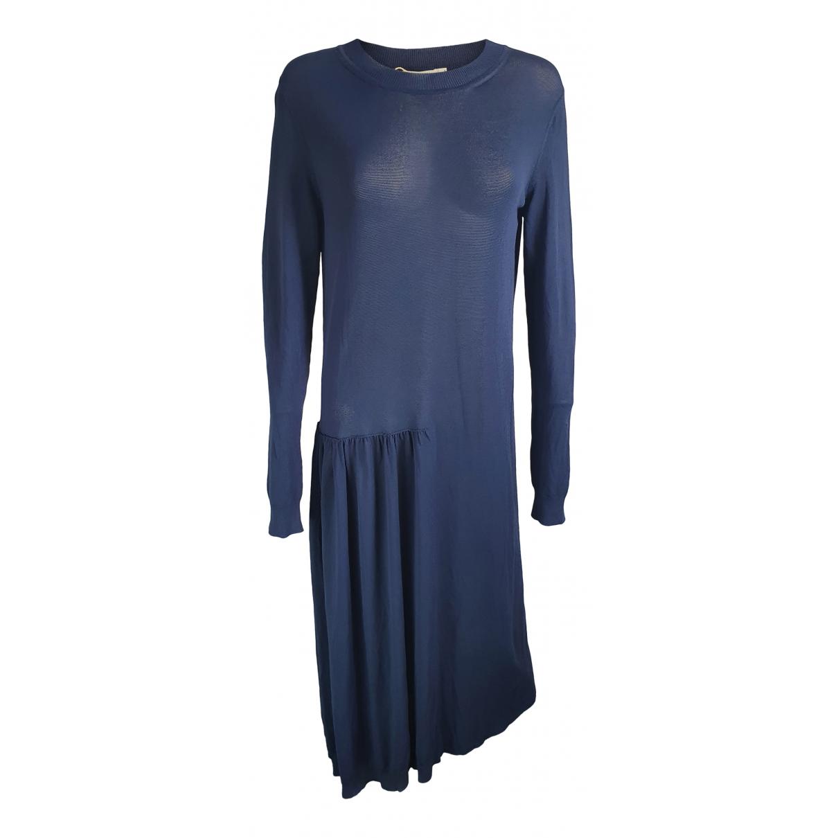 Jil Sander \N Kleid in  Blau Viskose