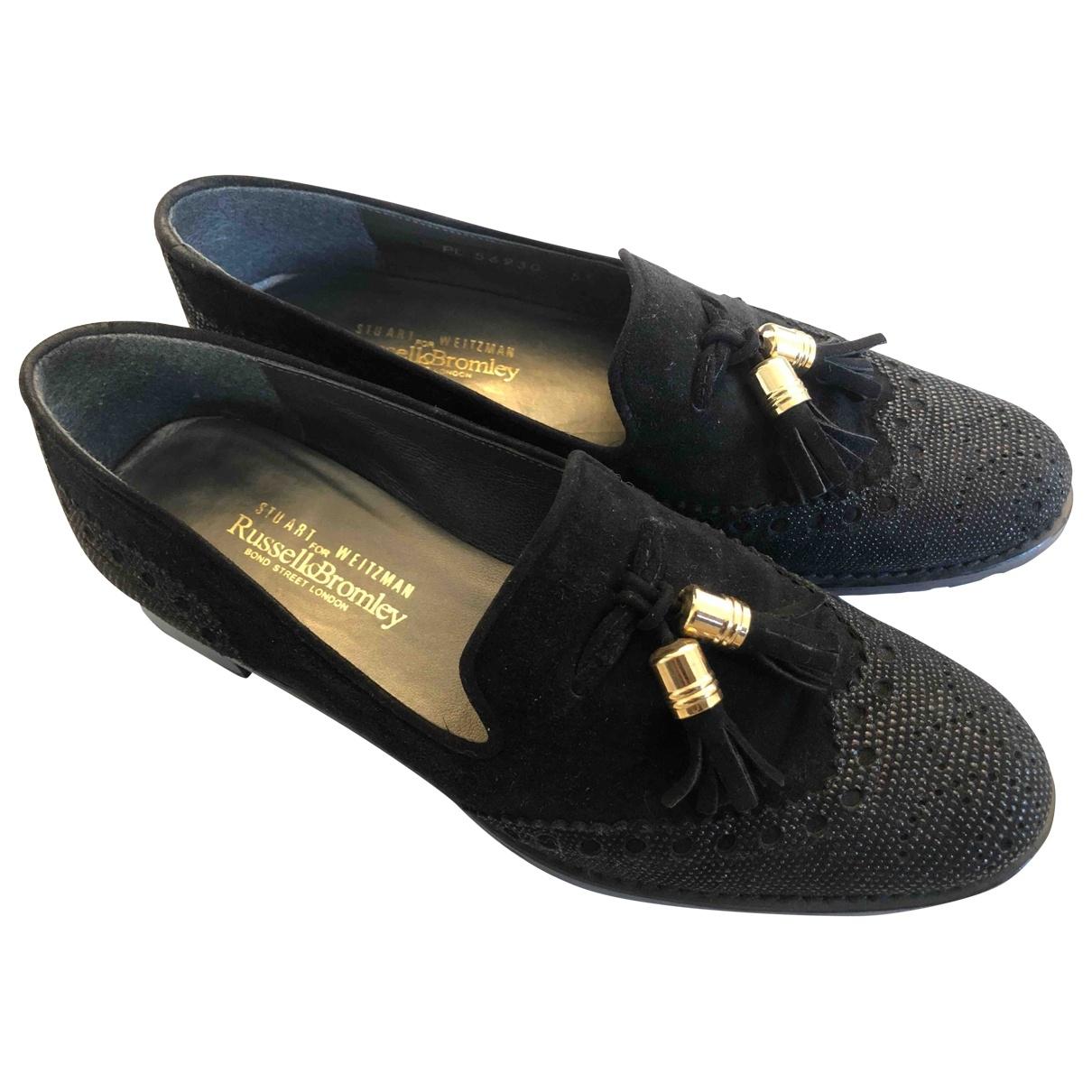 Stuart Weitzman \N Black Leather Flats for Women 3.5 UK