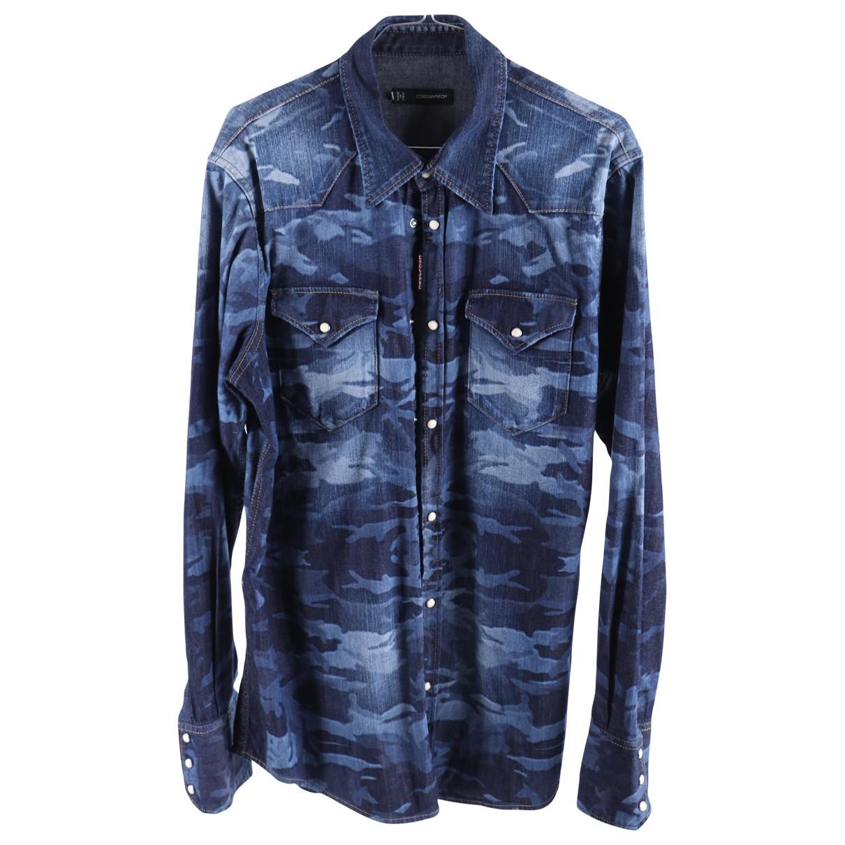 Dsquared2 \N Blue Cotton Shirts for Men XXL International