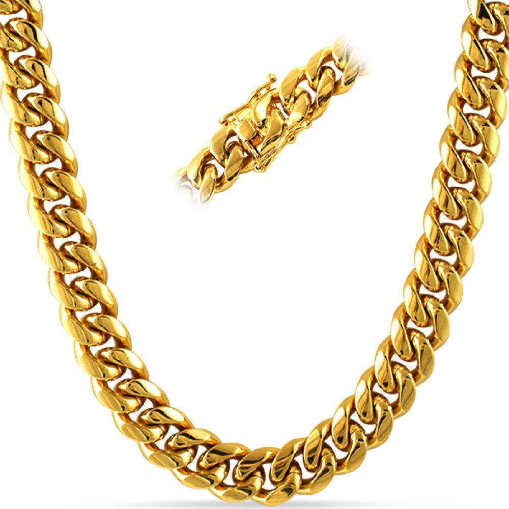 Miami Cuban Chain Yellow Gold or White Gold