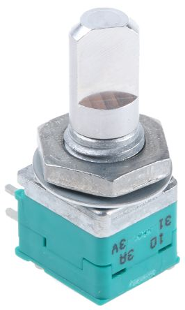 Alps Alpine 2 Gang Rotary Potentiometer with an 6 mm Dia. Shaft - 10kΩ, ±20%, 0.05W Power Rating, Through Hole