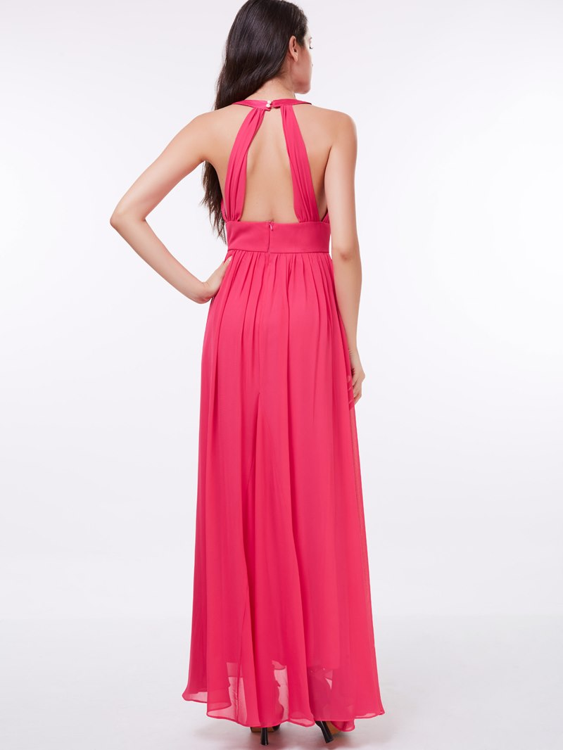 Ericdress A-Line Halter Evening Dress In Ankle Length