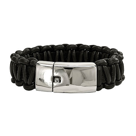 Mens Stainless Steel Wrap Bracelet, One Size , No Color Family