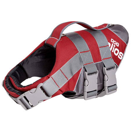 The Pet Life Helios Splash-Explore Outer Performance 3M Reflective and Adjustable Buoyant Dog Harness and Life Jacket, One Size , Red