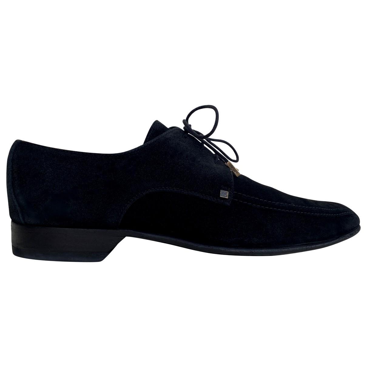 Louis Vuitton - Derbies   pour homme en suede - noir